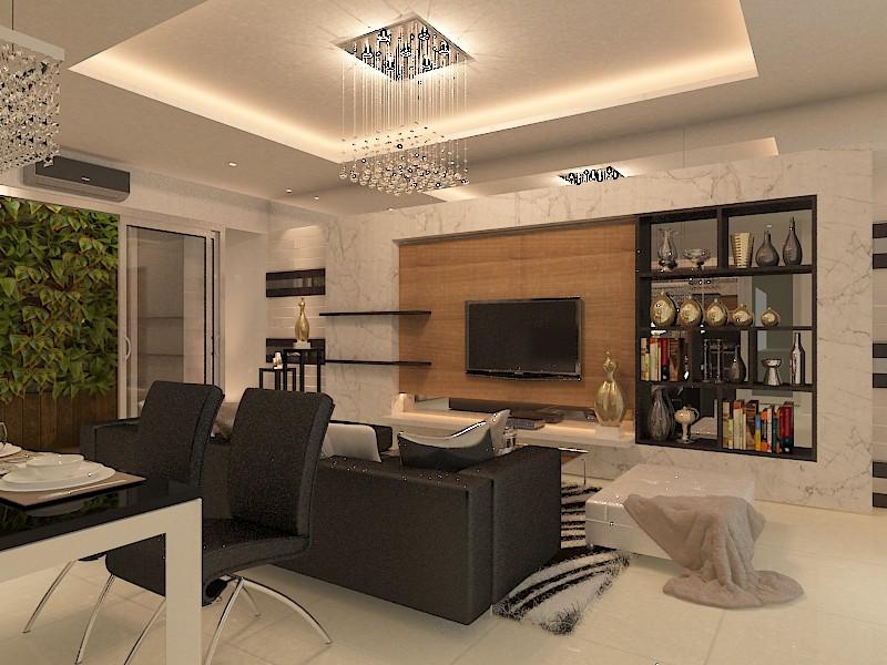 Сучасні Вітальня в 3d max vray зображення
