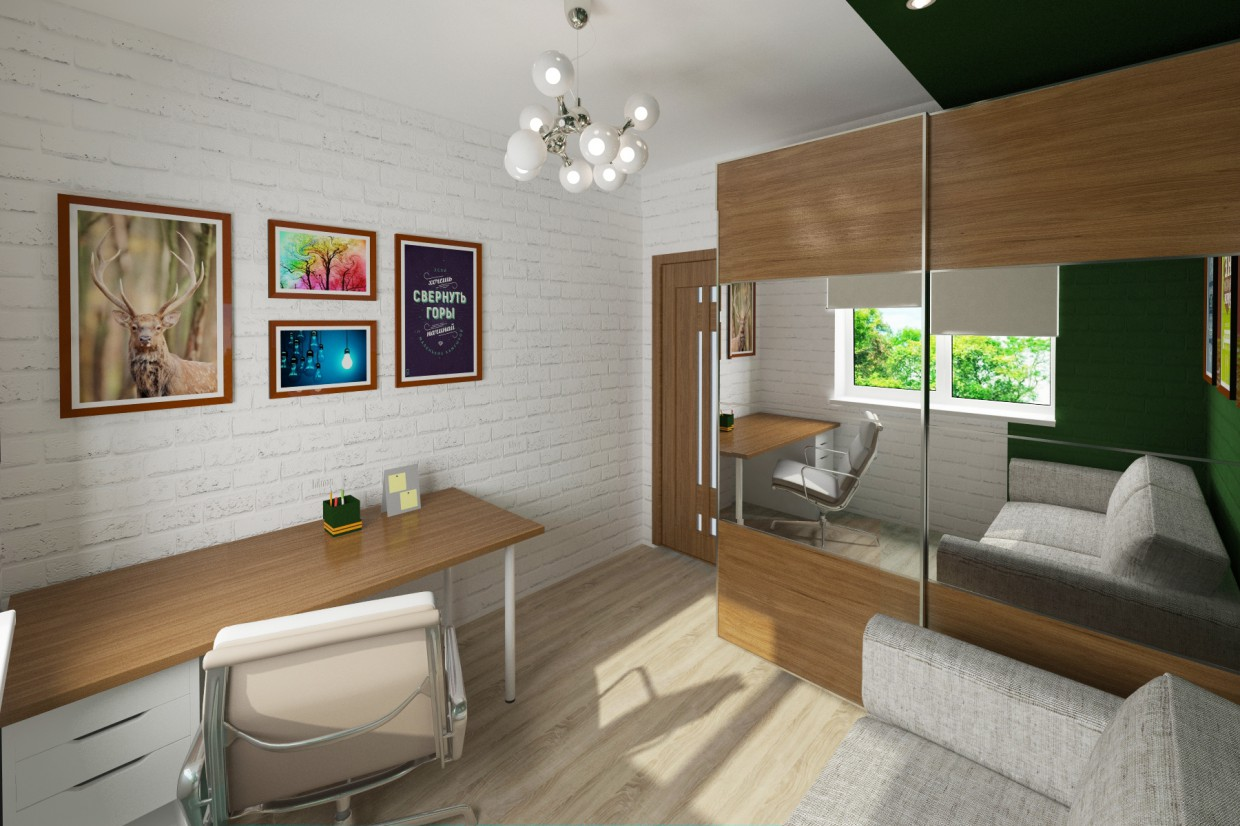 Boy's room in 3d max vray 3.0 image