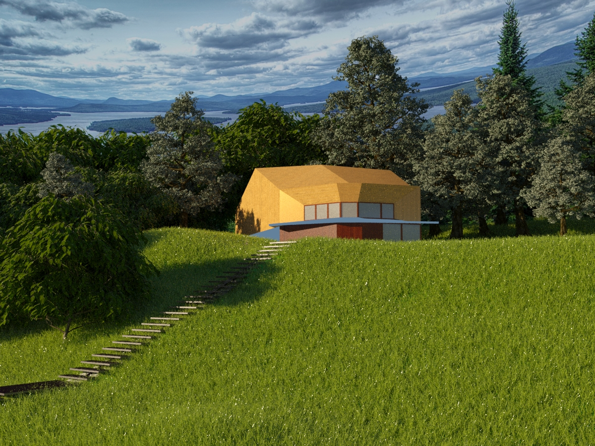 country house in 3d max corona render image