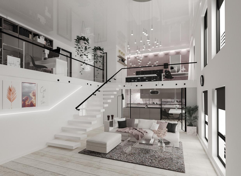 द्वैध अपार्टमेंट 3d max corona render में प्रस्तुत छवि