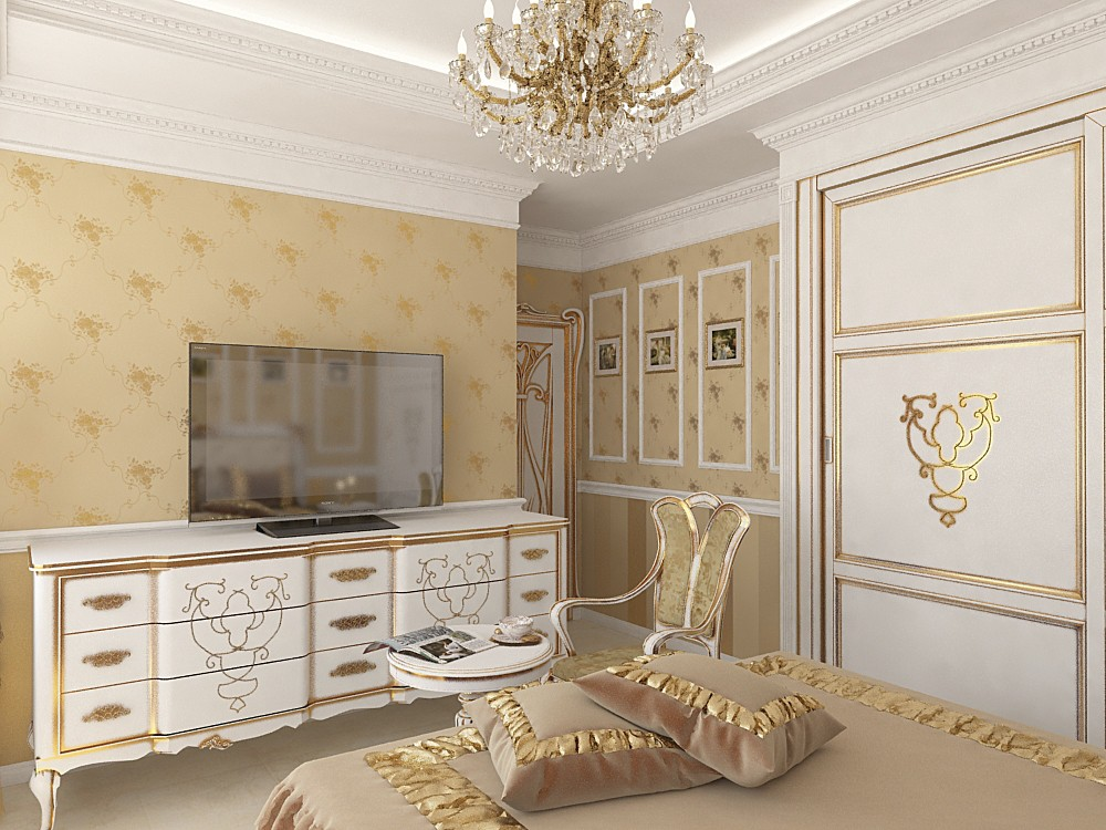 Guest bedroom in 3d max vray image