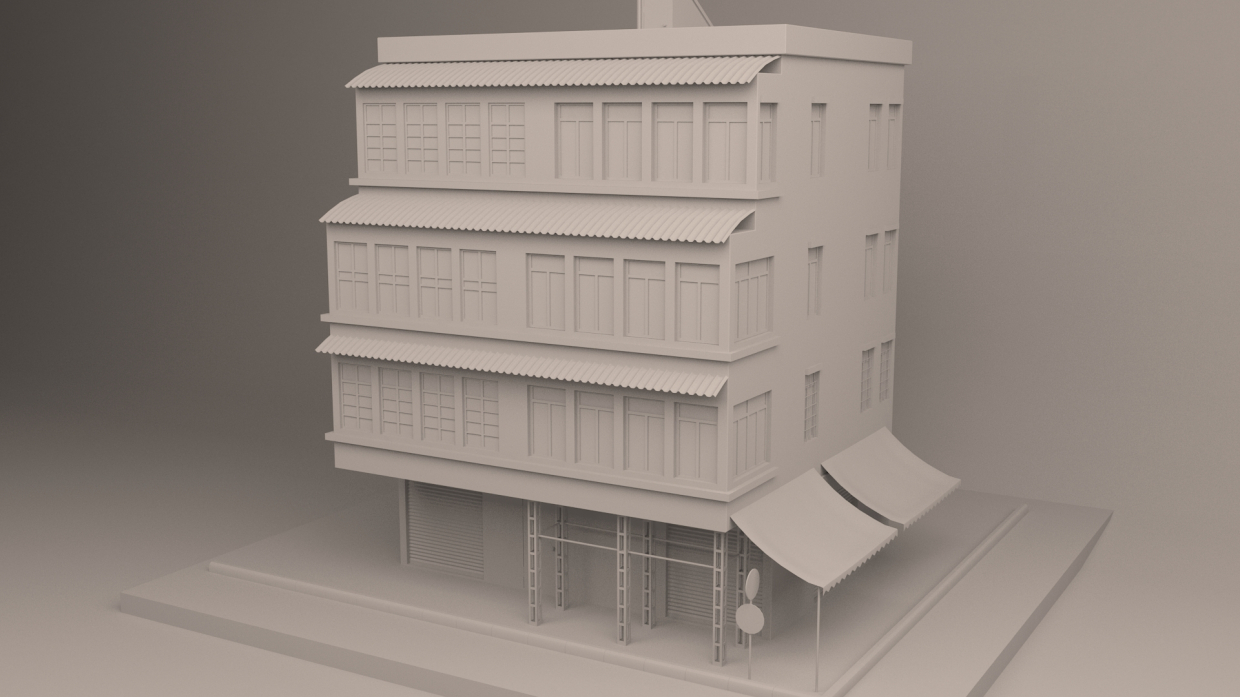 Residential building in 3d max vray 3.0 image