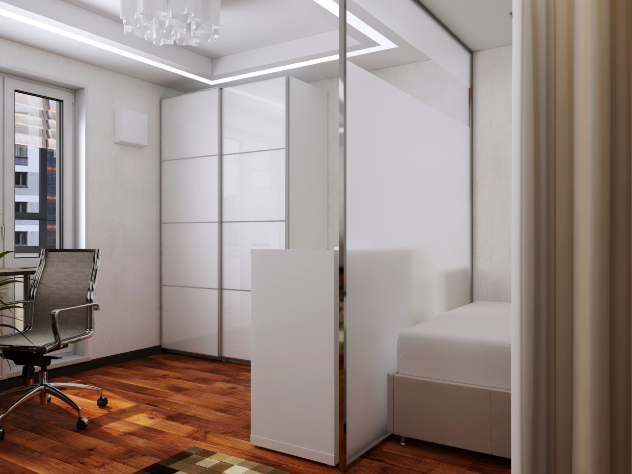 Room for a young family in 3d max vray 3.0 image