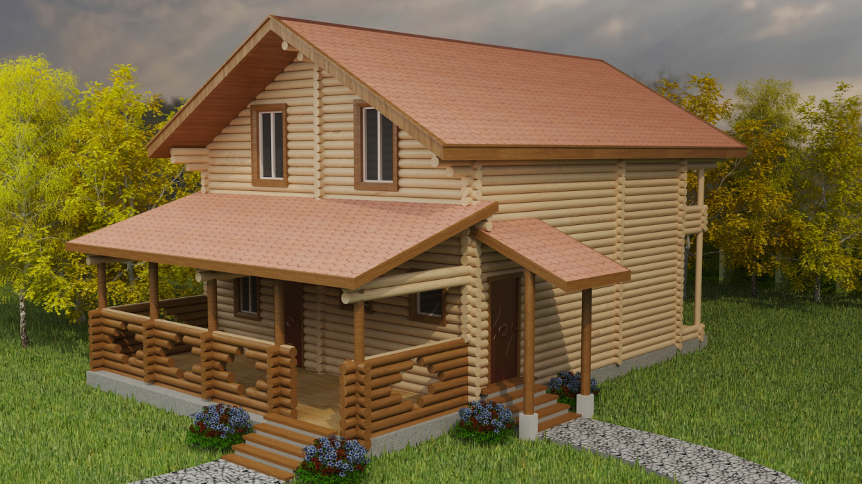 Cottage in 3d max vray 3.0 image