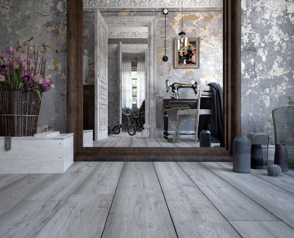 Mirror against the wall. in 3d max vray 3.0 image