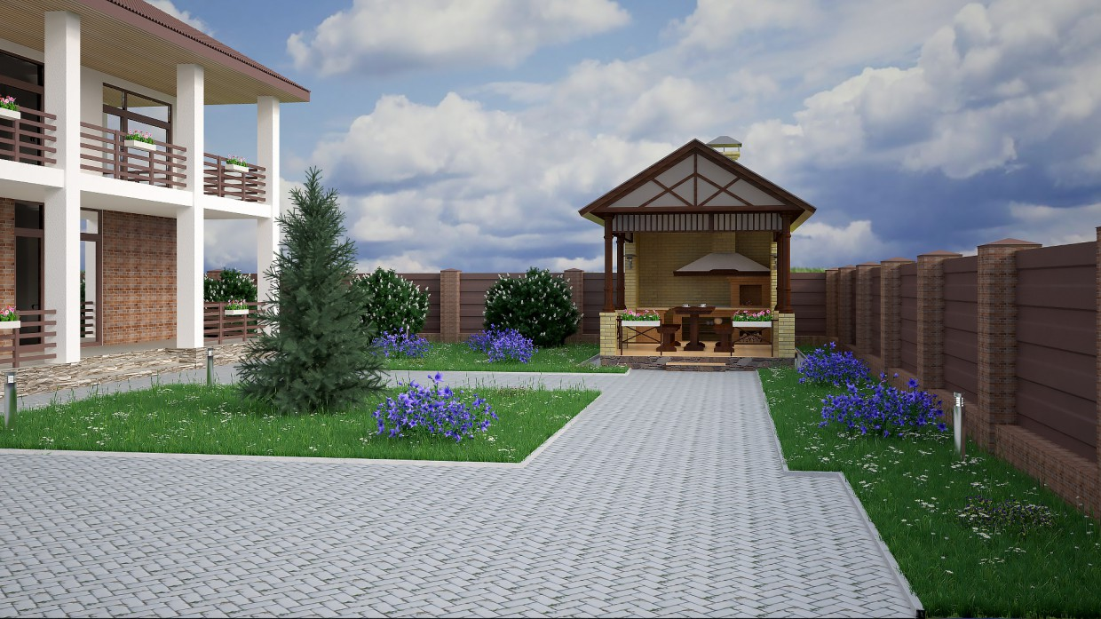 Country house in 3d max vray 3.0 image