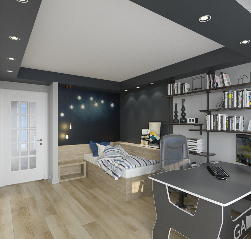 room for teen in 3d max corona render image