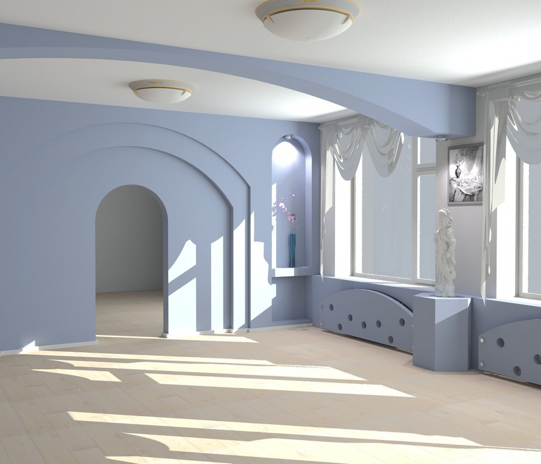 Painting auditorium in 3d max vray image