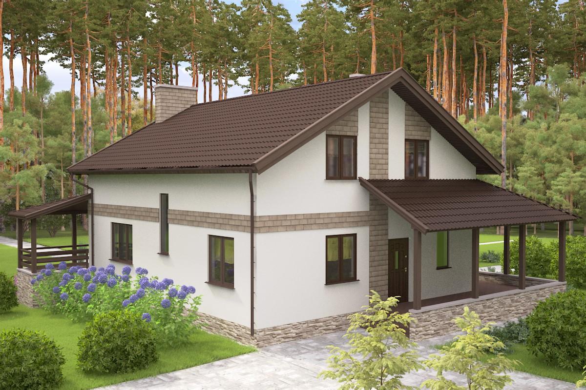 загородный дом в 3d max vray 3.0 изображение