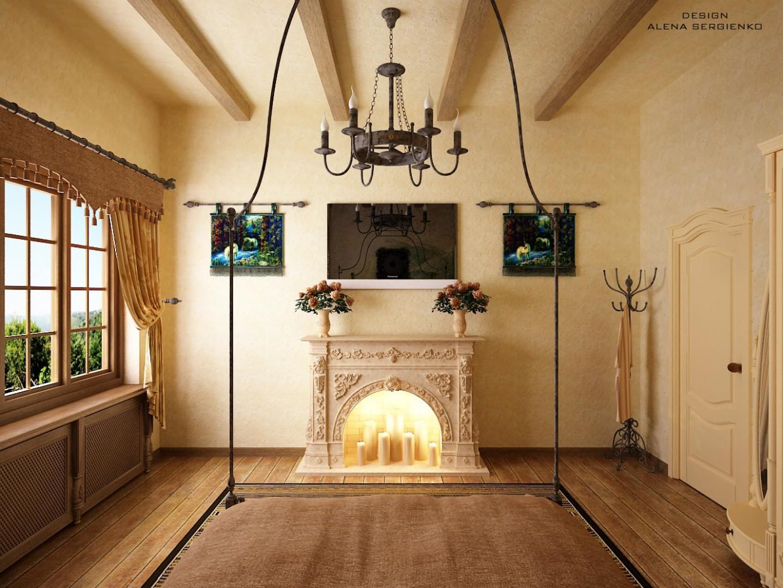 Спальня в заміському будинку в 3d max vray зображення
