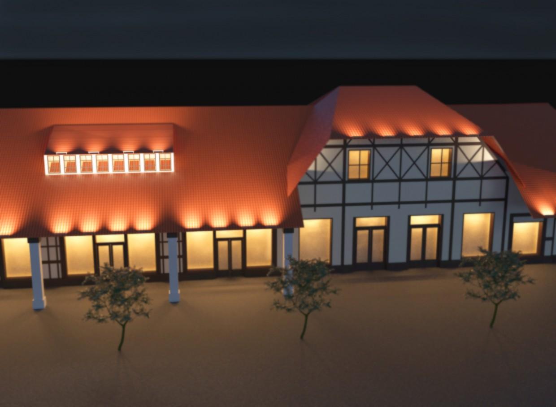 imagen de El proyecto de iluminación del centro comercial en 3d max corona render