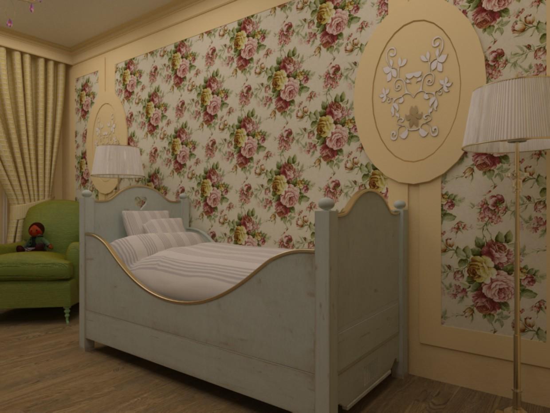Uma seleção de mobiliário para quartos de crianças em 3d max vray imagem