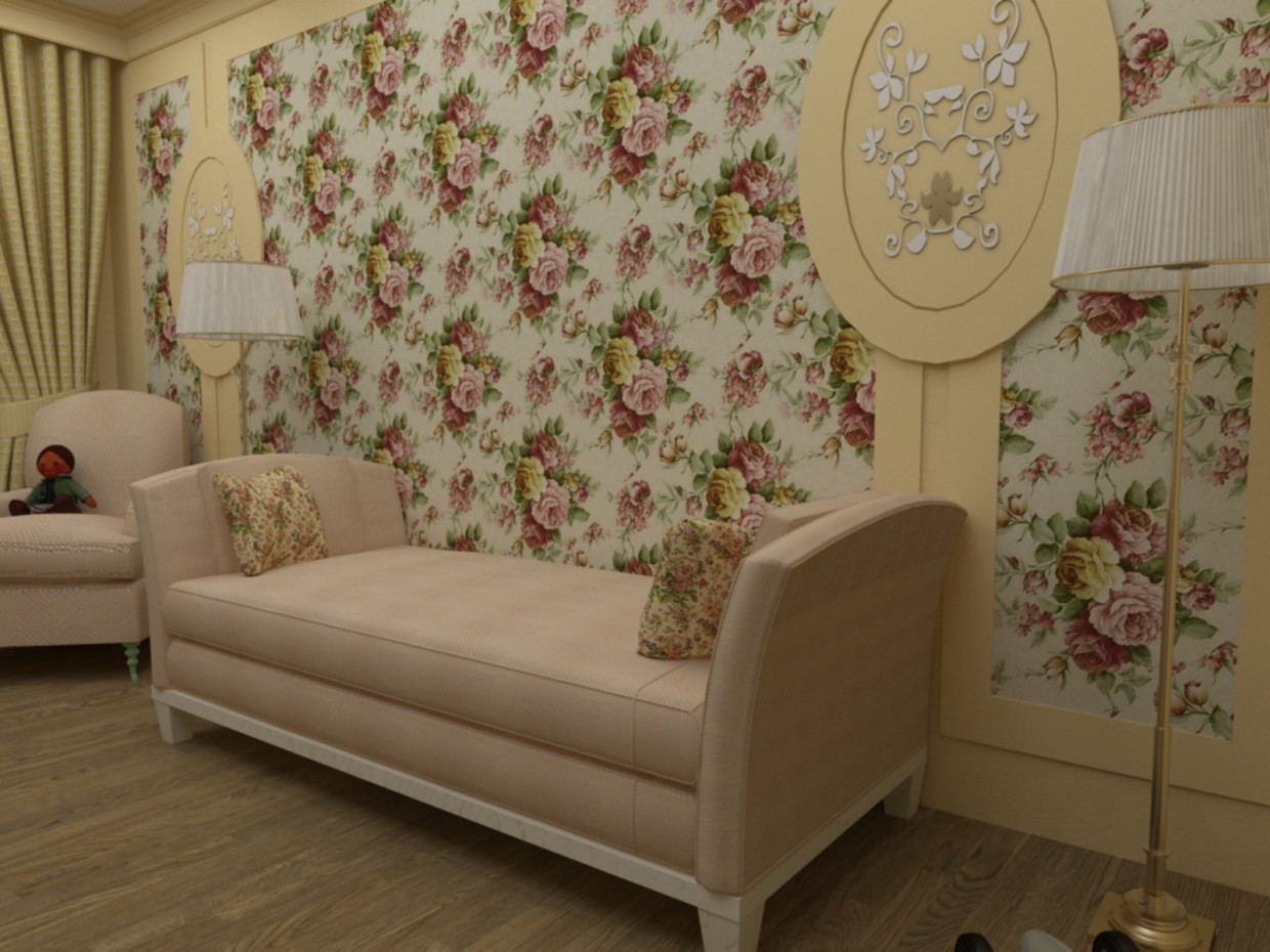 A selection of furniture for children's rooms in 3d max vray image