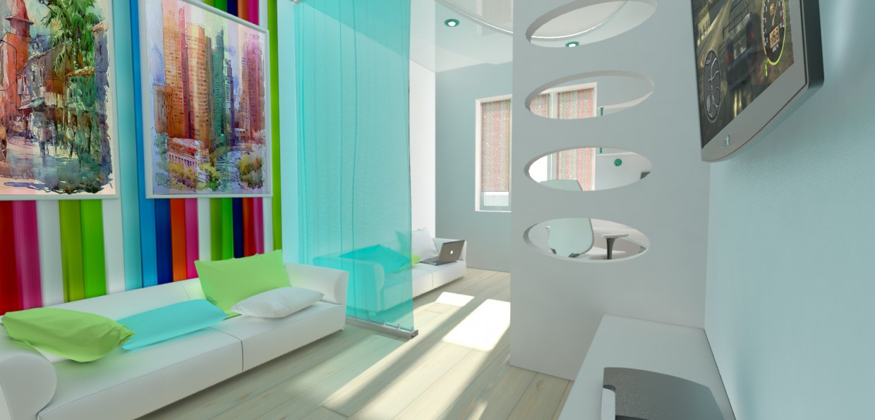3d model of a child's room in 3d max mental ray image