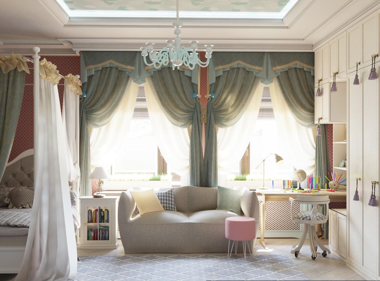 Nursery in 3d max corona render image