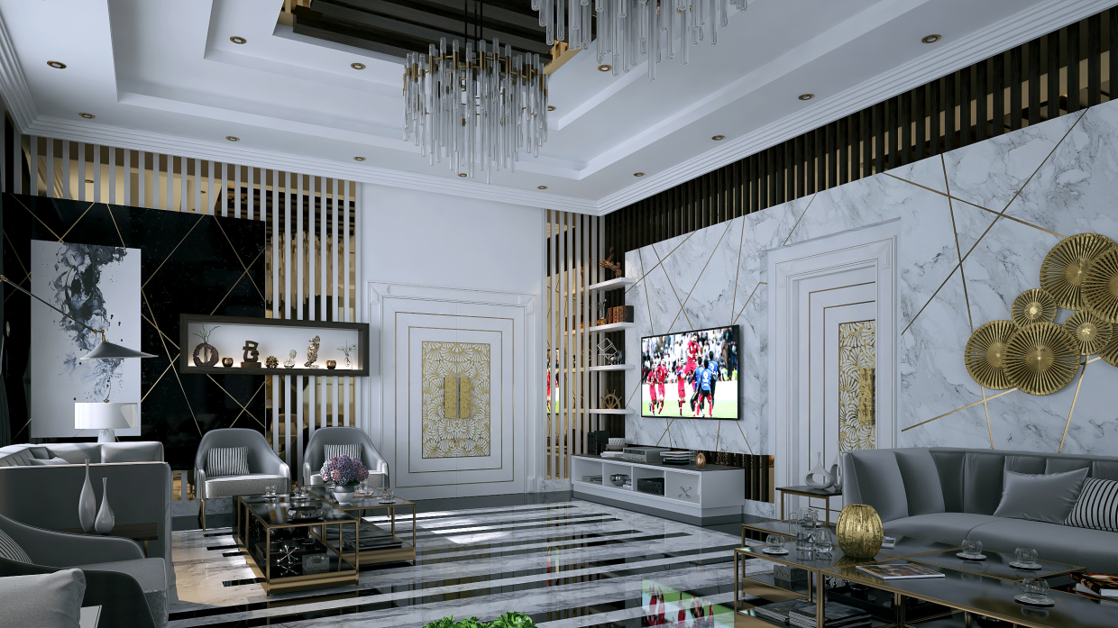 Modern living interiors in 3d max vray 3.0 image