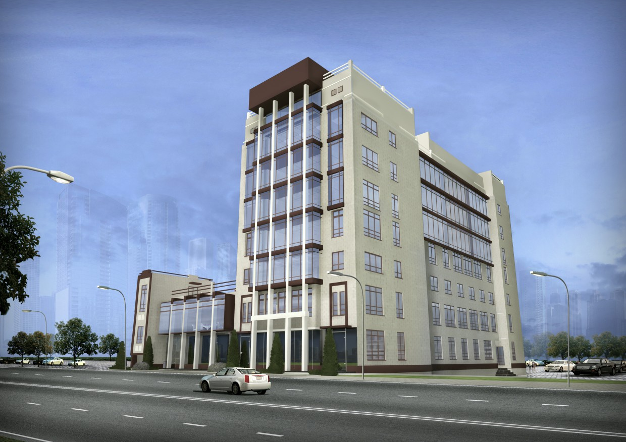 3d visualization of the project in the office building 3d max, render vray of Белка