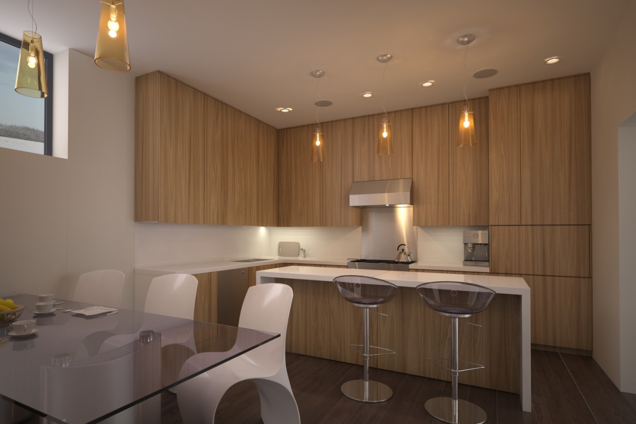 Kitchen Minimalism in 3d max vray image