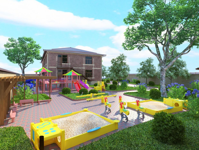 Kindergarten. in 3d max vray image