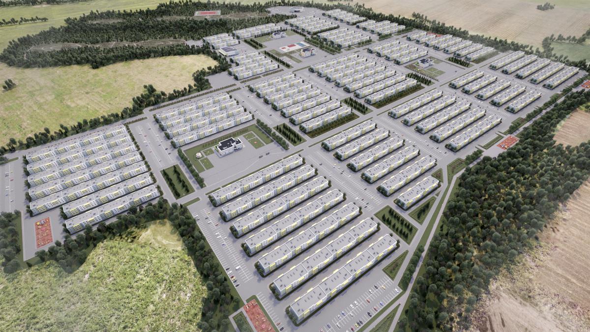 """Settlement """"Peresvet"""" in 3d max corona render image"""