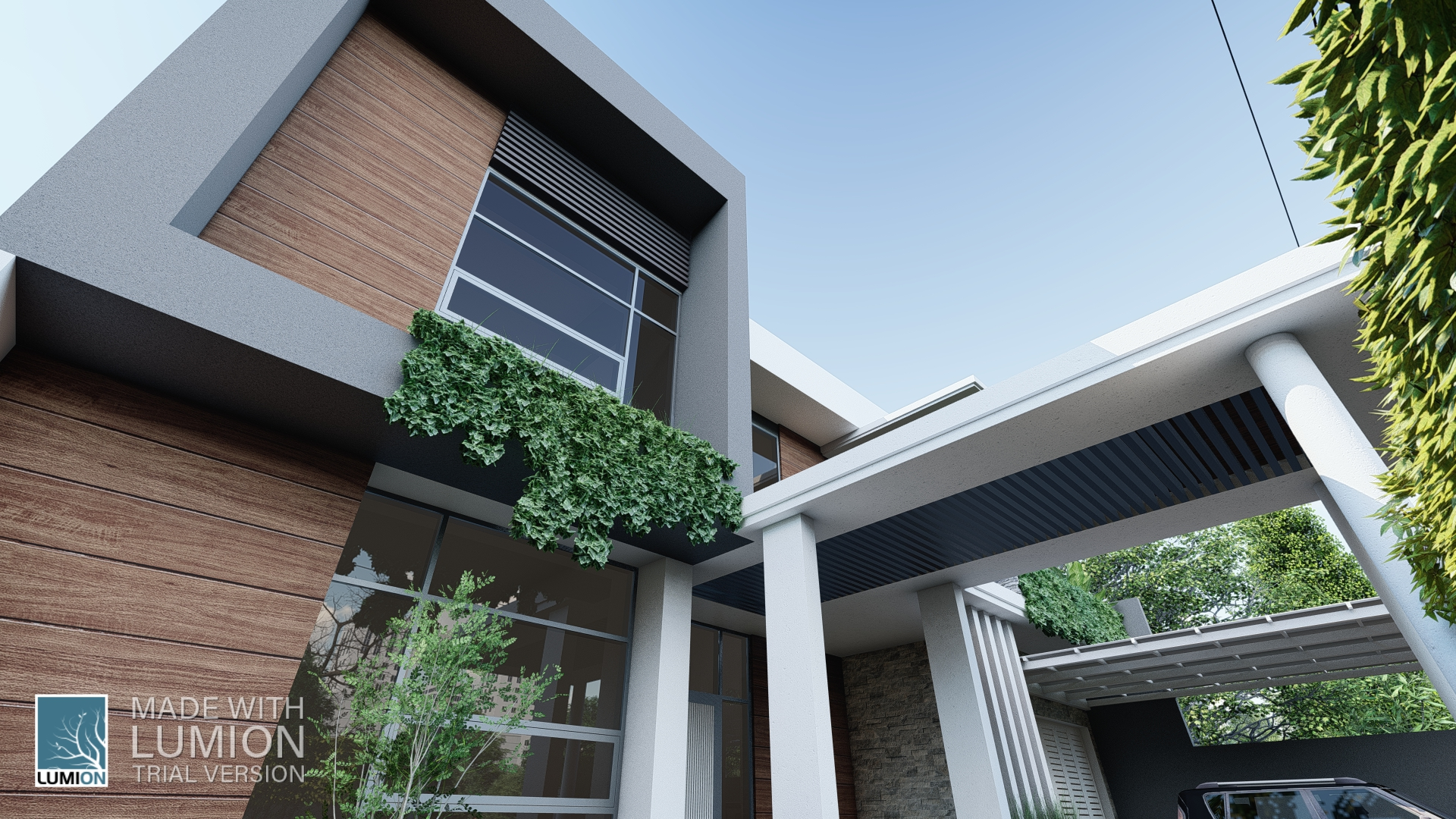 Simple modern house in 3d max Other image