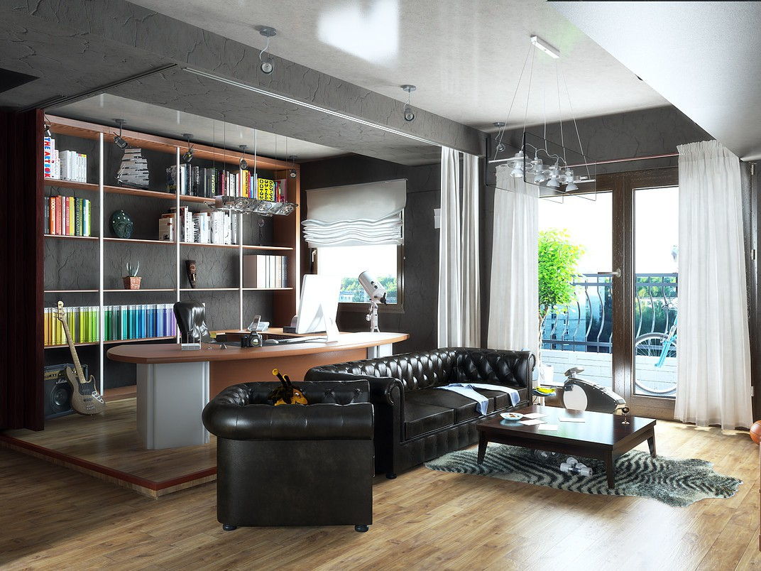 Cozy apartment in the center. in 3d max vray 3.0 image