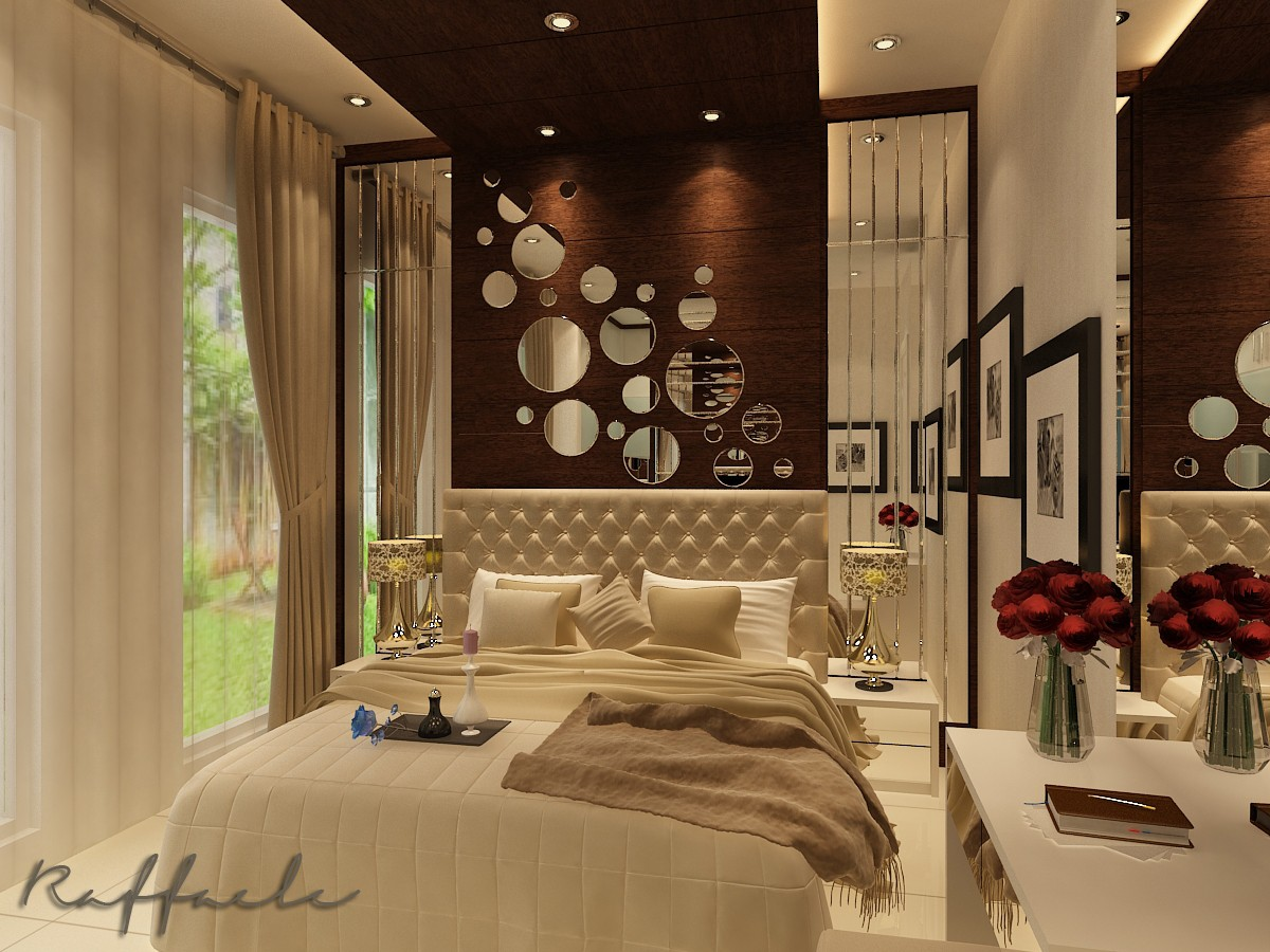 Modern Tropical Bedroom in 3d max vray image