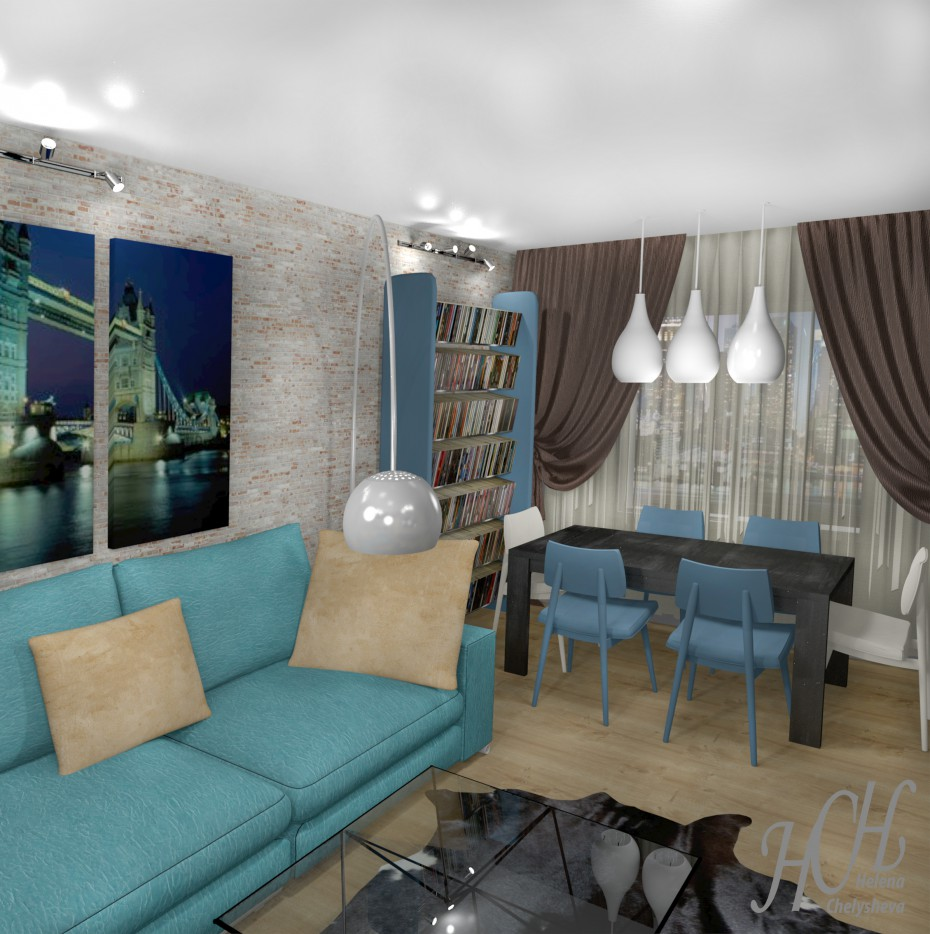 3d visualization of the project in the Interior design Other thing, render Other of Helena Che
