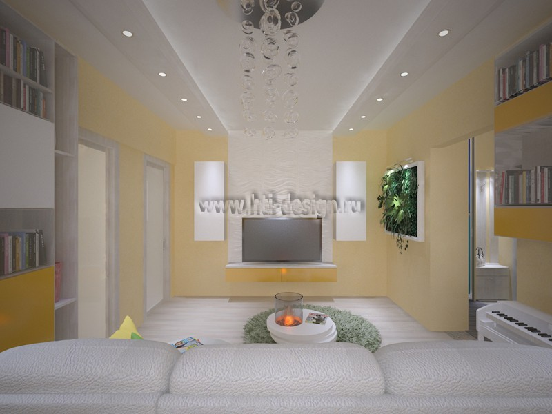 """Thematic interior for 3-room apartments """"Island"""" in 3d max vray image"""