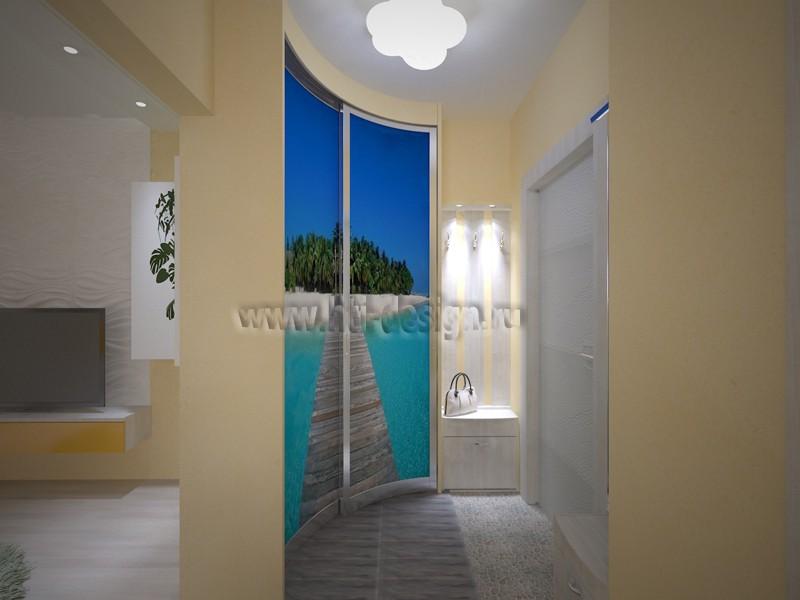 """Тематичний інтер'єр 3-кімнатної квартири """"Острів"""" в 3d max vray зображення"""