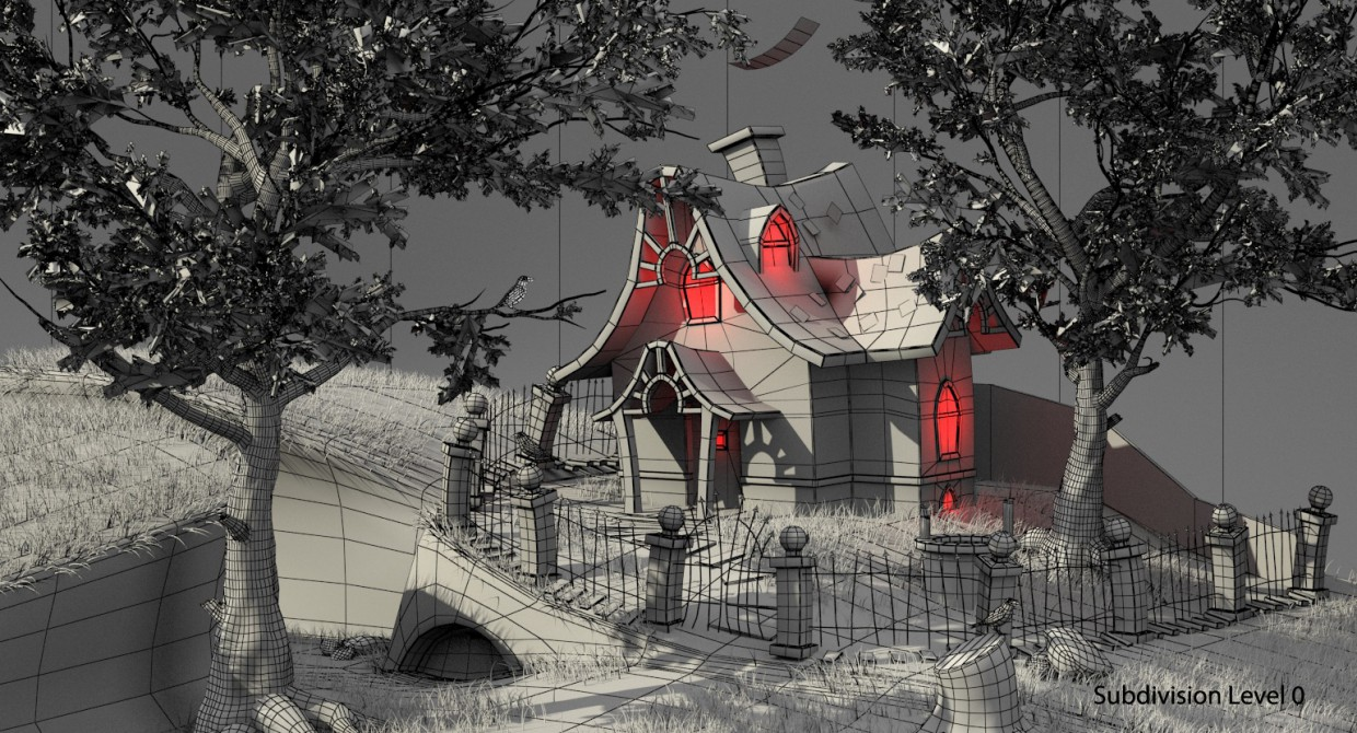 Witch house in 3d max vray 3.0 image