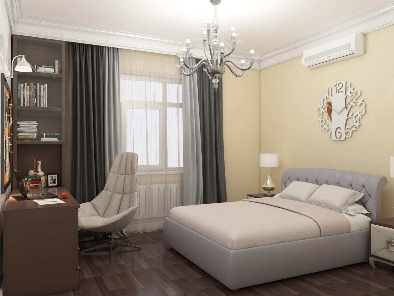 Визуализация спальни в 3d max vray 3.0 изображение