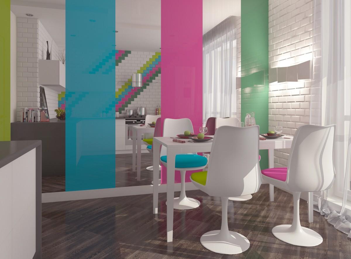Кухня для молодой пары в 3d max vray изображение