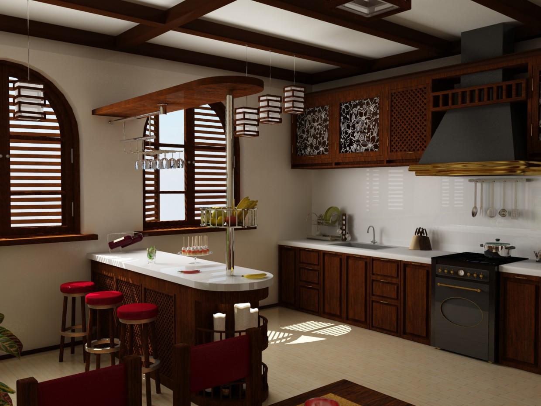 3d визуализация проекта Кухня в 3d max, рендер vray от Doroteya
