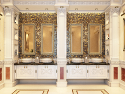 zone de lavage des mains classique de luxe