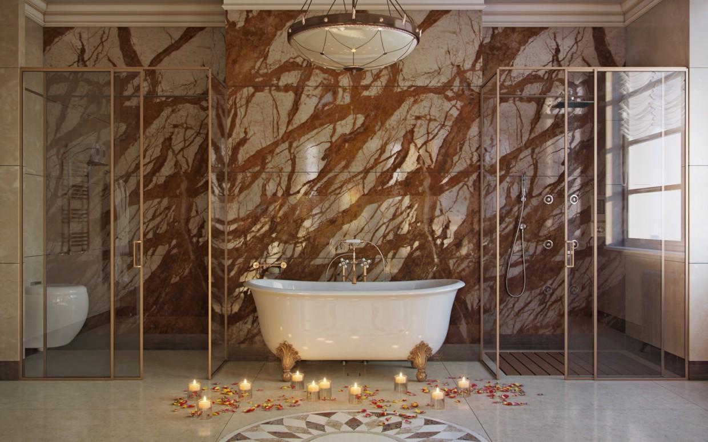 Ванная комната в 3d max corona render изображение