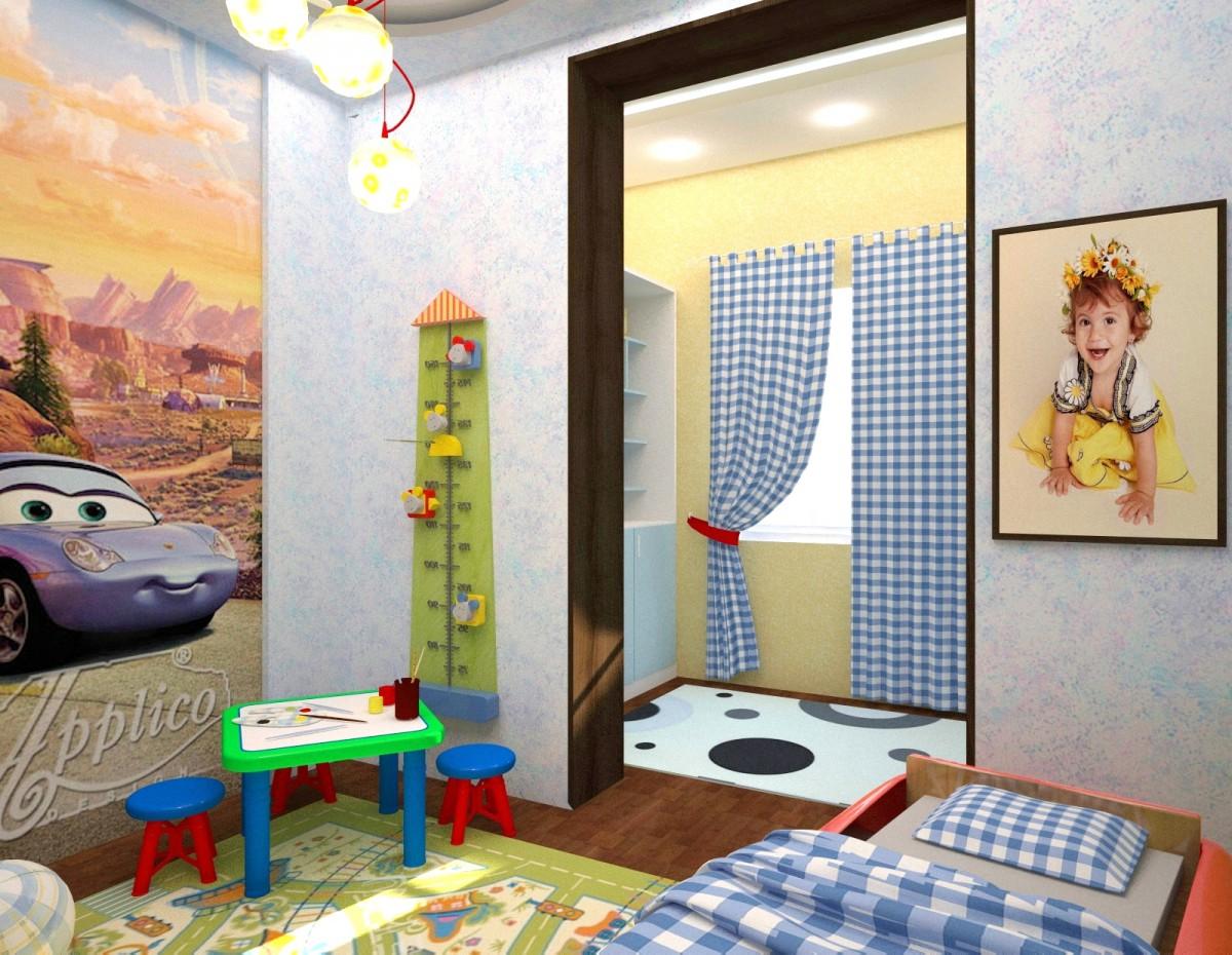 3d визуализация проекта Интерьер квартиры в 3d max, рендер vray от Anulka