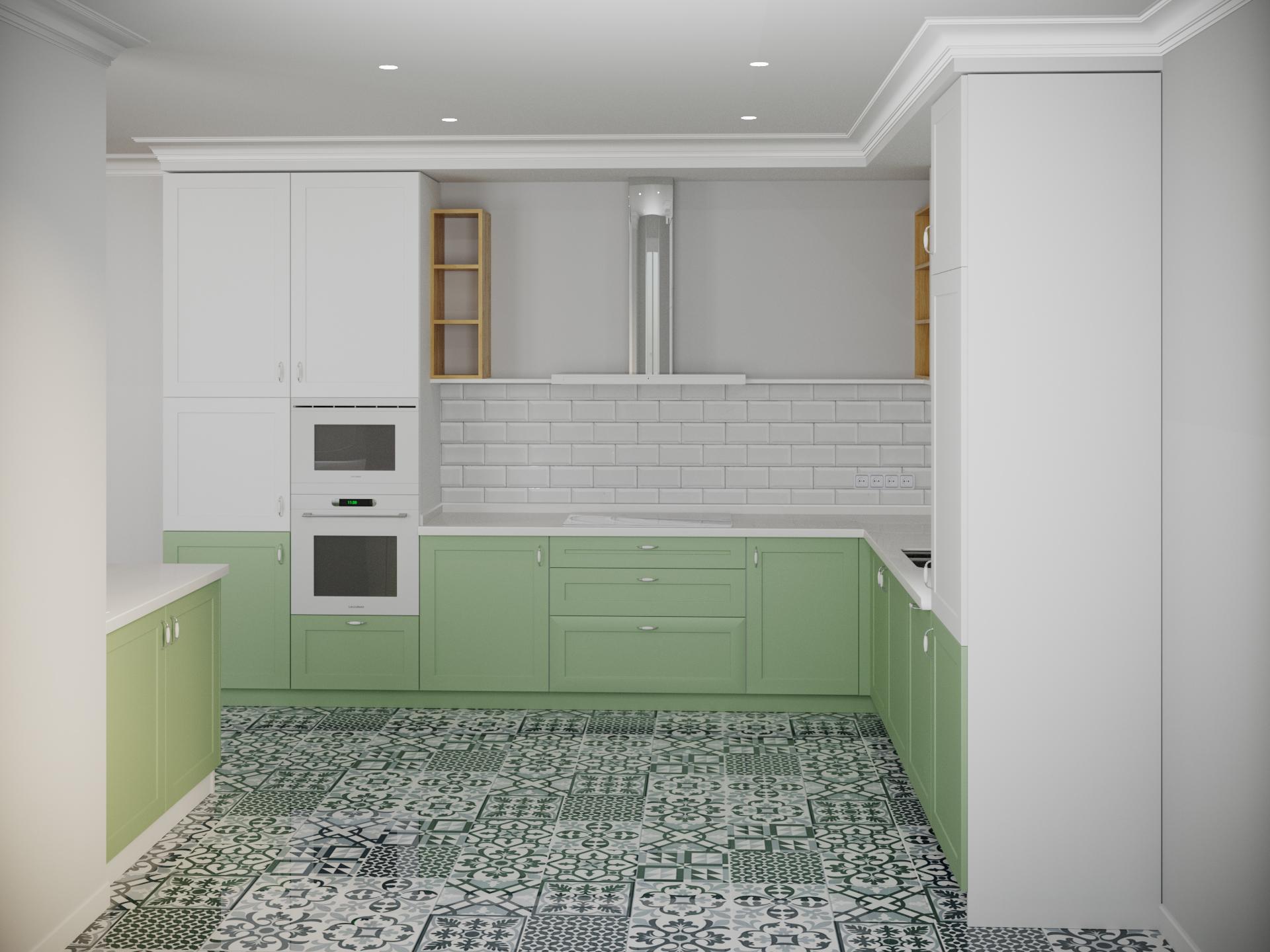 रसोई 3d max corona render में प्रस्तुत छवि