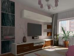 बेडरूम-रहने वाले कमरे