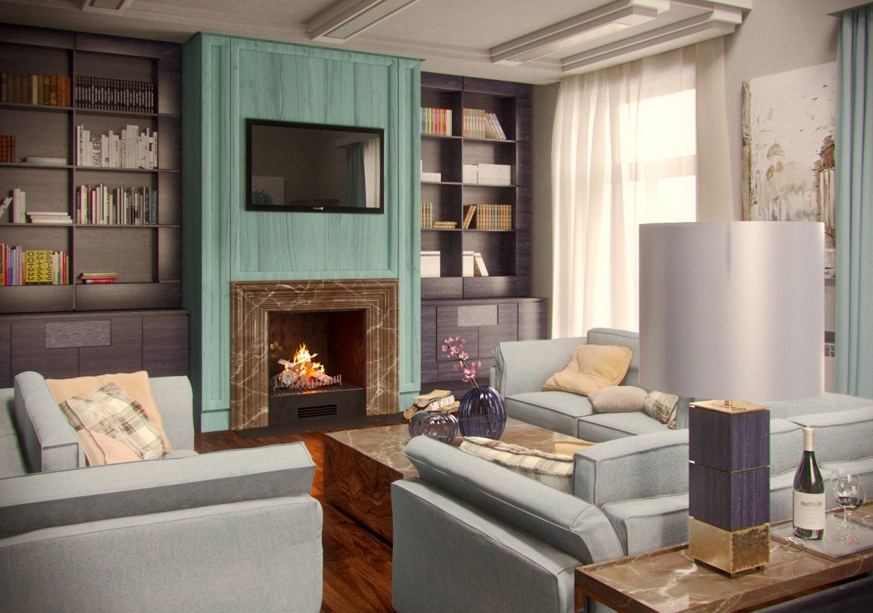 3d visualization of the project in the Boiserie showreel 3d max, render corona render of Conceptvision