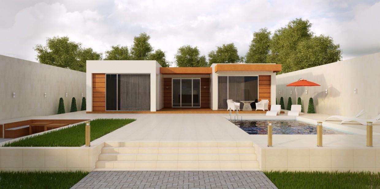 Villa in 3d max vray image