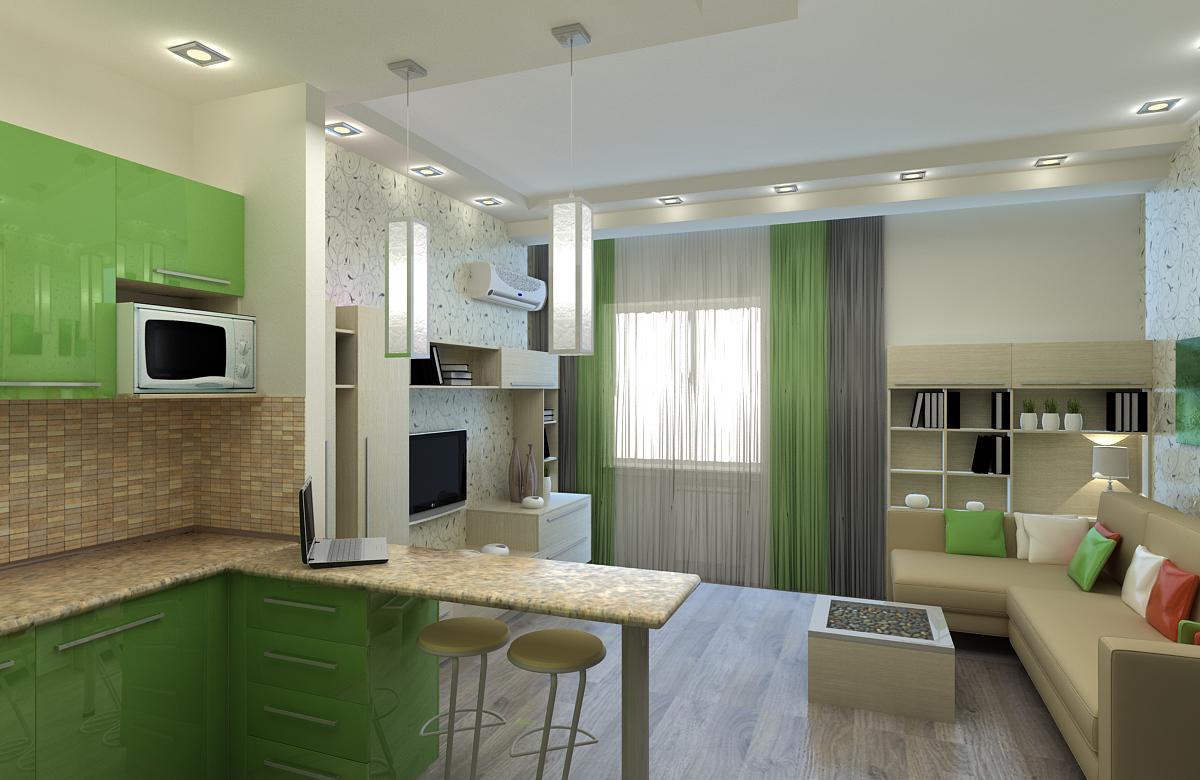 visualización 3D del proyecto en el Habitación en una residencia 3d max render vray NatiLitvinenko
