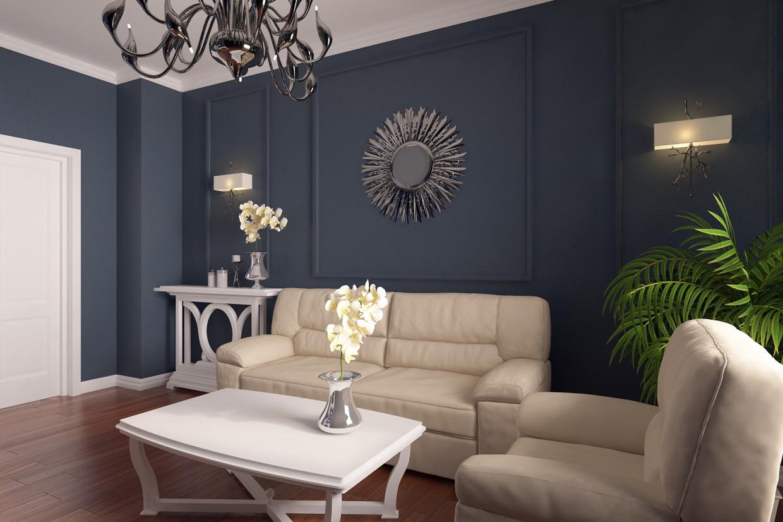 Гостиная для семьи из 3-х человек в 3d max vray 3.0 изображение