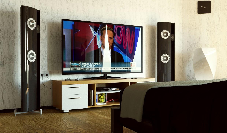 Спальная комната в 3d max corona render изображение