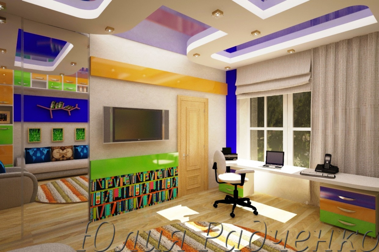 Nursery for brother in 3d max vray image