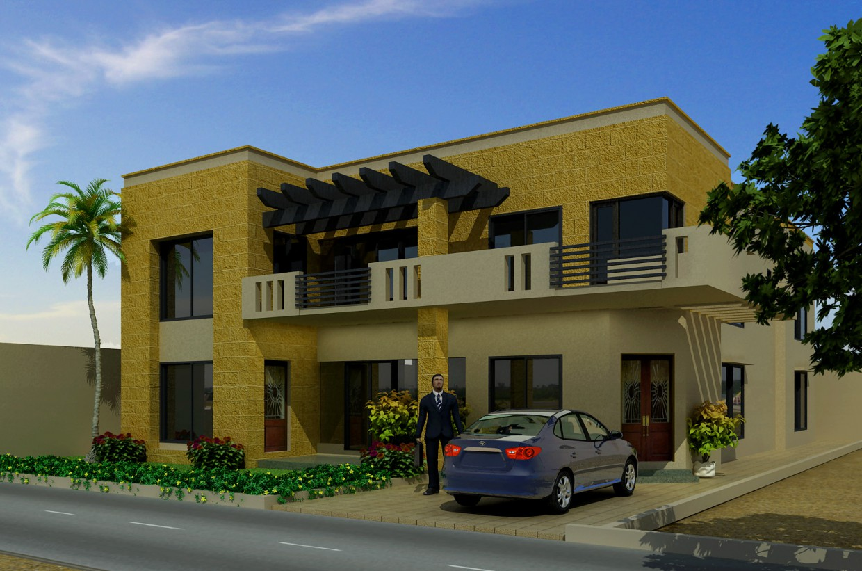 Mr Arif Residence in 3d max vray image
