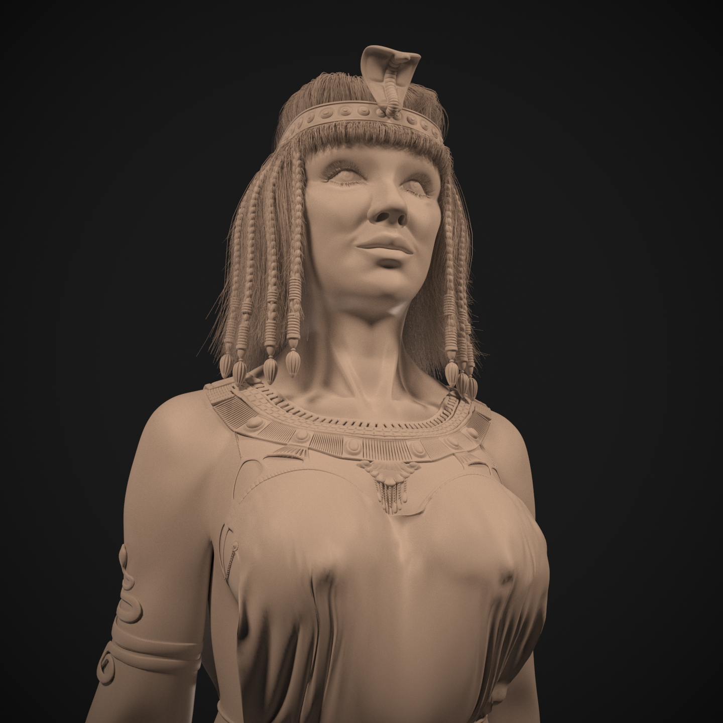 Cleopatra in 3d max corona render image