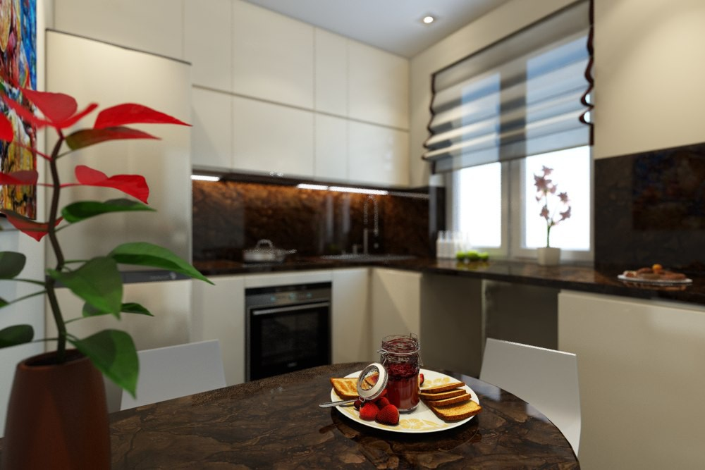 Kiev apartment in 3d max vray image