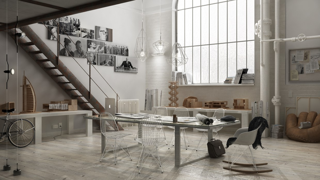 3d visualization of the project in the Background new website... 3d max, render vray of eloisa.conti