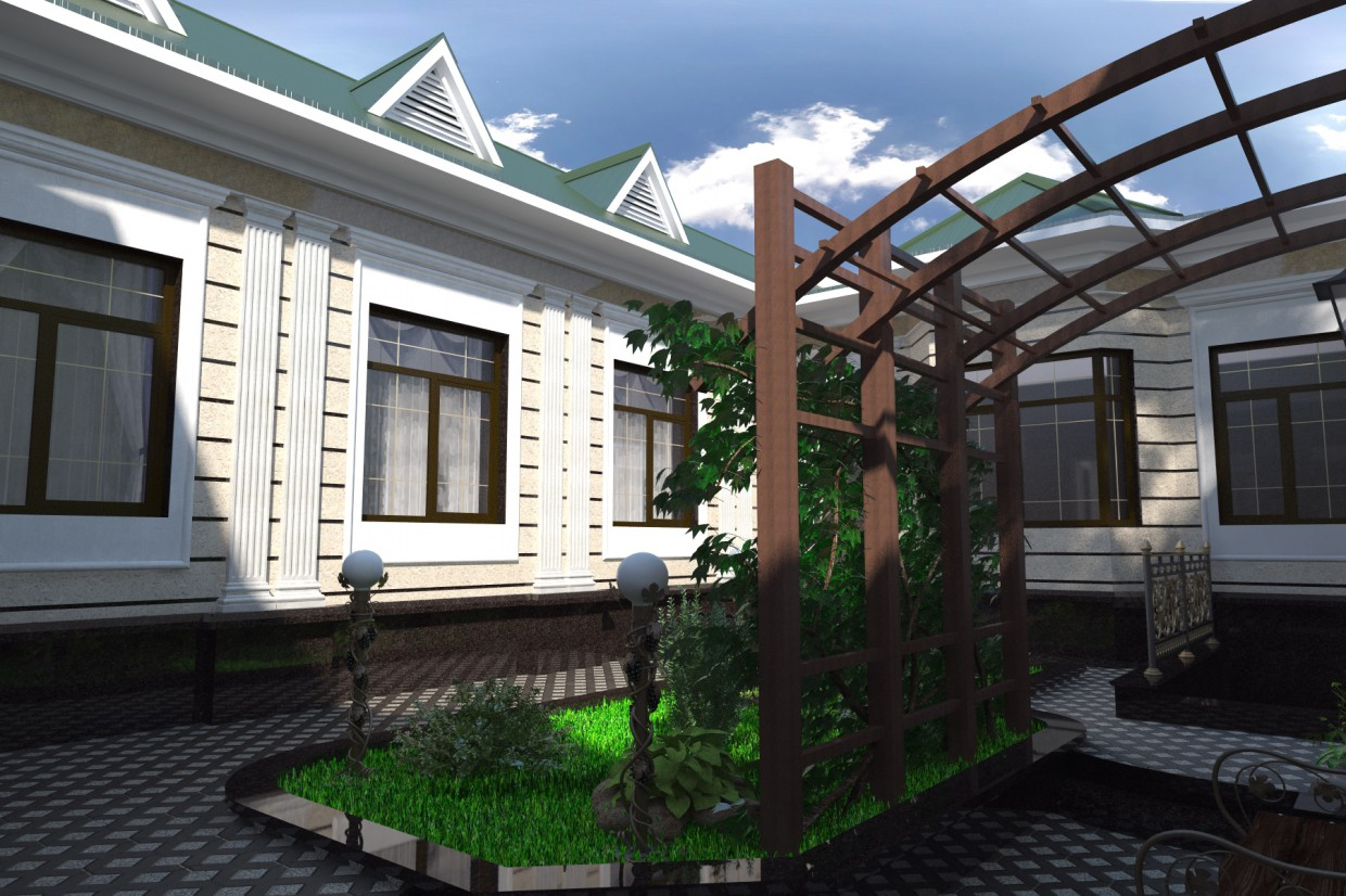 House in 3d max vray 3.0 image